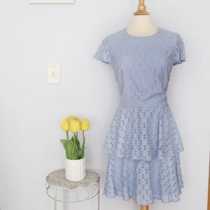 Gal Meets Glam Dresses - Gal Meets Glam Daisy Lace Pale Blue Lace Dress 16
